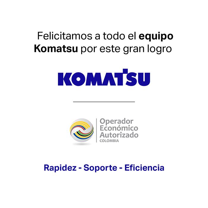 La DIAN le otorga a Komatsu Colombia la acreditación como Operador Económico Autorizado