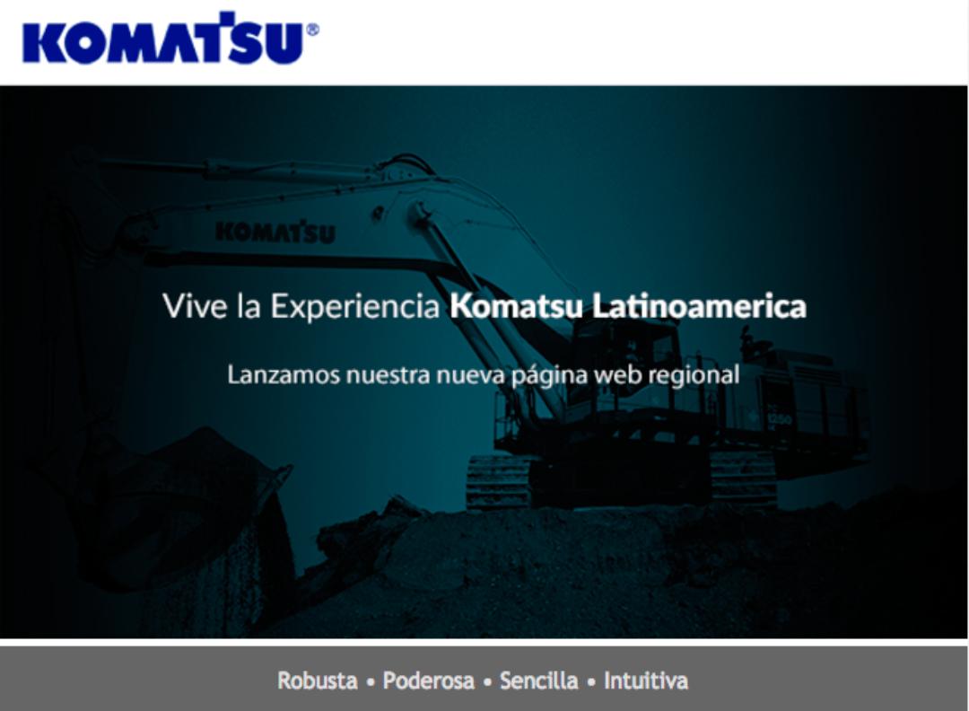 Lanzamiento nuevo sitio Web Komatsu Latinoamérica.